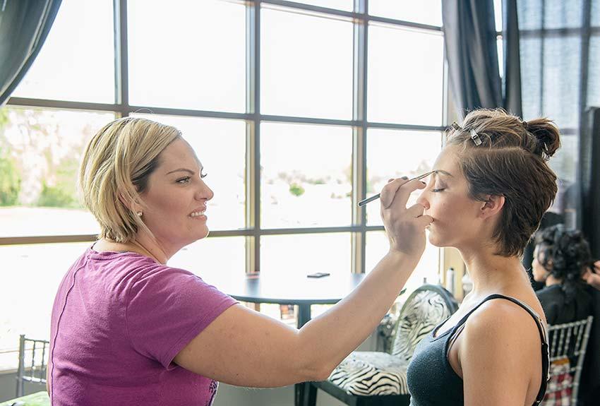 wedding makeup cut
